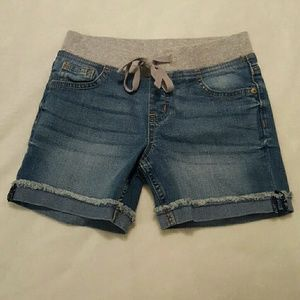 Justice denim shorts girls sz 8